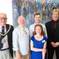 James Carstairs - winner of main and emerging artist prizes with his artwork Crowd Identity