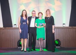 Devon Tourism Awards 2016 (Jo Pavey, Cllr John O'Leary, Fiona Page-Turner, Purple Cloud Consultancy)