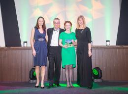 Devon Tourism Awards 2016 (Jo Pavey, Cllr John O'Leary, Fiona Page-Turner, Purple Cloud Consultancy)