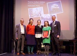 THG Team on stage receiving their award