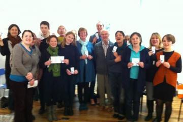 Volunteers undertaking Dementia friendly training